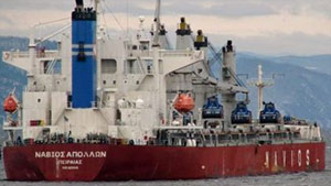 Navios Apollon bulk carrier was sailing under Panamanian flag and carrying 19 crew.