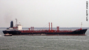 File image of the MV Theresa VIII chemical tanker in Kakinada, India on June 9, 2007.