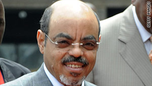 "Ethiopian Prime Minister Meles Zenawi says the U.S.-funded Voice of America engages in ""destabilizing propaganda."""