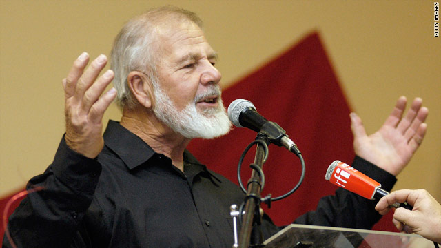 South African white supremicist leader Eugene Terreblanche, pictured in 2004, was bludgeoned to death on his farm.