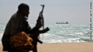 Islamist rebels are battling pirates in central Somalia, as well as fighting government troops in Mogadishu.