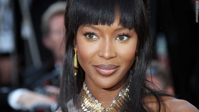 Naomi Campbell arrives for a Cannes screening Thursday, as war crime prosecutors sought to subpoena her.