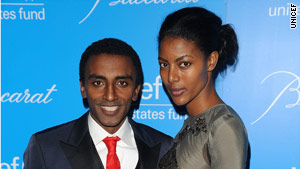 Marcus Samuelsson and his wife, Ethiopian model Maya Haile.
