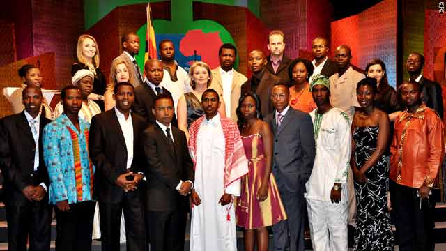 The finalists at the 2010 African Journalist Awards in Kampala, Uganda.
