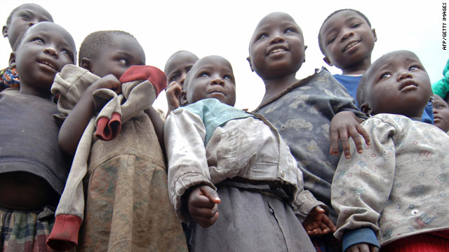 Children wait at the Don Bosco Youth Centre for victims of armed conflict, malnutrition, and poverty in Goma, Democratic Republic of Congo, on 9 March, 2007. The nation remains one of the world's poorest despite abundant natural resources.