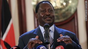 Prime Minister Raila Odinga was hospitalized late Monday after complaining of fatigue.