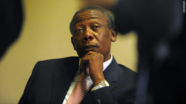 Former police chief Jackie Selebi, pictured here in April,  has been found guilty of corruption resulting from his relationship with a convicted drug dealer.