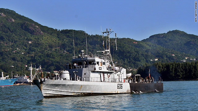 Pirates tried to seize the Topaz, a Seychelles coast guard vessel.