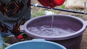 Many people living in the country's far north region do not have access to potable water.