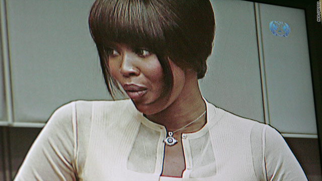 Naomi Campbell testifies at the war crimes trial of Charles Taylor in The Hague August 5 about diamonds she reportedly received.
