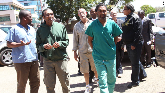 Six medical workers, including four Americans, appeared in 
