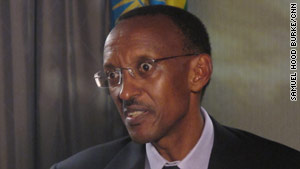 "Rwandan President Paul Kagame called allegations that Rwandan soliders committed genocide ""fraudulent."""