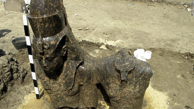 Egyptian researchers have discovered part of a statue of Amenhotep III, King Tut's grandfather.