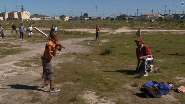 Baseball has changed children's lives in Philippi township near Cape Town