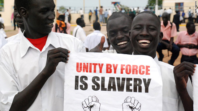 Pro-independence supporters in the Southern Sudanese capital Juba - voting is scheduled for January 9, 2011.