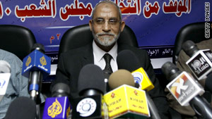 Muhamed Badia, 66 was elected in January to lead the Muslim Brotherhood.