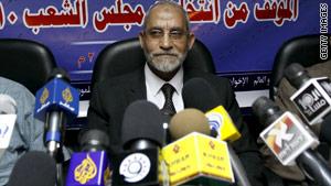 Muhamed Badia, 66 was elected in January to lead the Muslim Brotherhood.