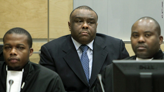 Former DR Congo vice president Jean-Pierre Bemba at the International Criminal Court (ICC) in the Hague on October 19, 2010.