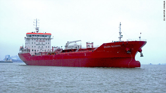 The Singapore-flagged MV Golden Blessing was confirmed released from under pirate control on 6 November 2010.