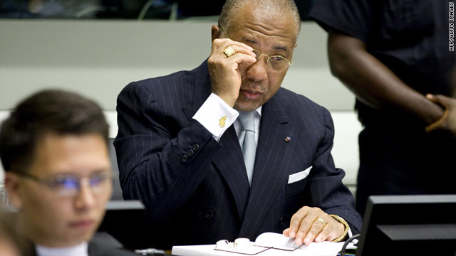 Former Liberian President Charles Taylor at the U.N.-backed Special Court for Sierra Leone in Leidschendam, on August 5, 2010.