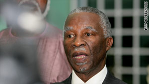 Thabo Mbeki, pictured here in October, has been sent by the African Union to meet both sides in Ivory Coast.