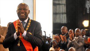 West African leaders called on President Laurent Gbago to hand over power to his challenger, Alassane Ouattara.