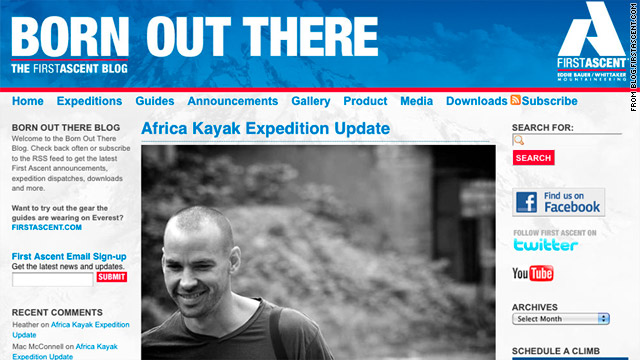 Hendrik Coetzee was pulled from his kayak by a crocodile on the Lukuga River, according to the expedition sponsor's blog.