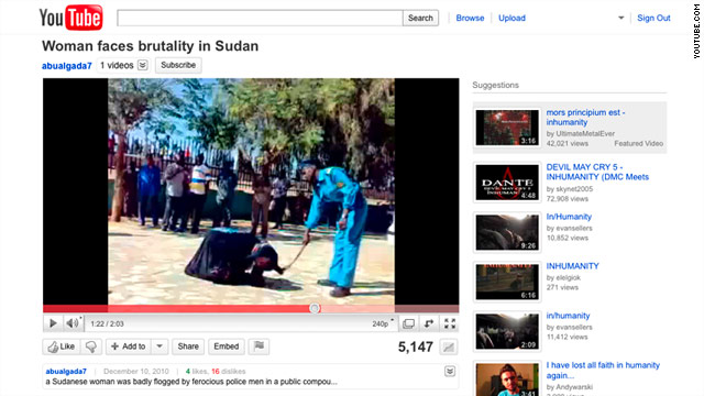 A two-minute video of police officers publicly flogging a woman has caused uproar in the Sudan.