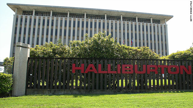 Halliburton Company's building is shown March 27, 2003 in Houston.