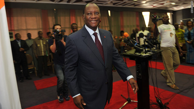 Alassane Ouattara, the man widely recognized as the legitimate leader of Ivory Coast, has called for a general strike.