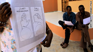 More than 4 million ballots like this have been delivered to Sudan, the United Nations said Tuesday.