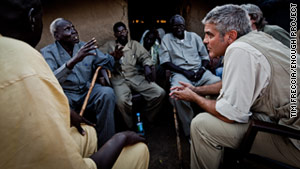 Actor George Clooney has focused on Darfur through his organization Not On Our Watch.