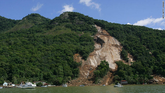 A giant mudslide at the Sankay Inn resort, two hours west of Rio de Janeiro, killed 22 and injured dozens, state officials said.