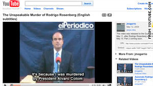 Rodrigo Rosenberg left a video blaming Guatemala's president after his death last year.