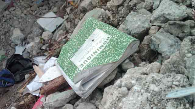 A music book left in the quake's rubble is emblematic of the loss felt by Jacmel, Haiti's cultural center.