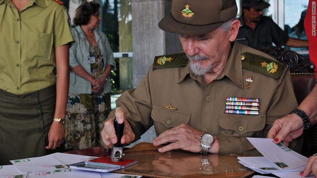 Cuban revolutionary leader Ramiro Valdes, shown at an event in Havana in October, has accepted a new task outside Cuba.