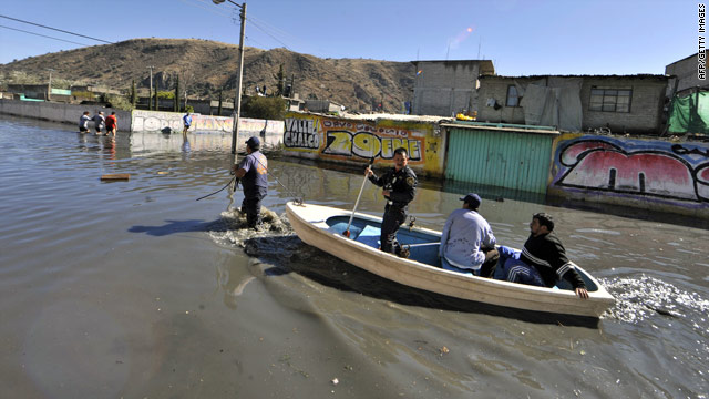 More than 3,000 homes have been flooded in Valle de Chalco, a city on the eastern outskirts of the Mexico City metro area.