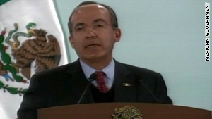 """I come mostly to listen,"" President Felipe Calderon told Juarez residents Thursday."