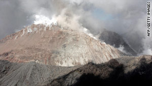 Activity at the Chaiten volcano, pictured in February 2009, began picking up last month, the Chilean government says.