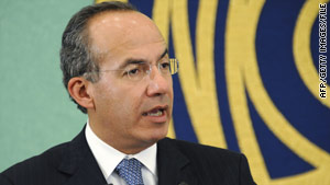 Mexican President Felipe Calderon visited Ciudad Juarez, where 200 people have been killed this year.