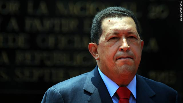 Venezuelan President Hugo Chavez at the Miraflores presidential palace in Caracas on Monday