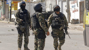 The Mexican military is fighting against drug cartels in the states of Tamaulipas and Nuevo Leon.