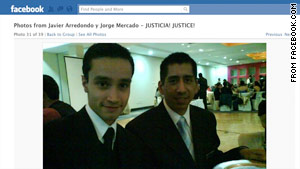 A Facebook page shows students Jorge Antonio Mercado Alonso, 23, left, and Javier Arredondo Verdugo, 24.