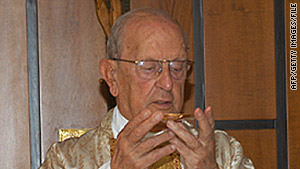 The Rev. Marcial Maciel celebrates Mass in Rome, Italy, in August 2005.