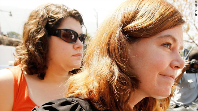Charisa Coulter, left, and Laura Silsby are two of 10 missionaries detained in Haiti. Only Silsby remains in detention.