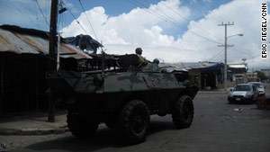 Violence has subsided in Kingston, Jamaica, but the mood remains tense, residents said Wednesday.