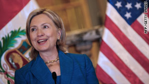 Secretary of State Hillary Clinton speaks Monday at the 40th General Assembly of the Organization of American States.