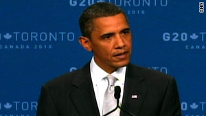 U.S. President Barack Obama fields questions during a news conference on Sunday afternoon.