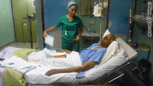 Cuban opposition activist Guillermo Farinas lies in a Cuban hospital on Wednesday at the end of his long fast.