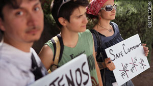 Arizona's immigration law was the target of protesters in Tucson in June.